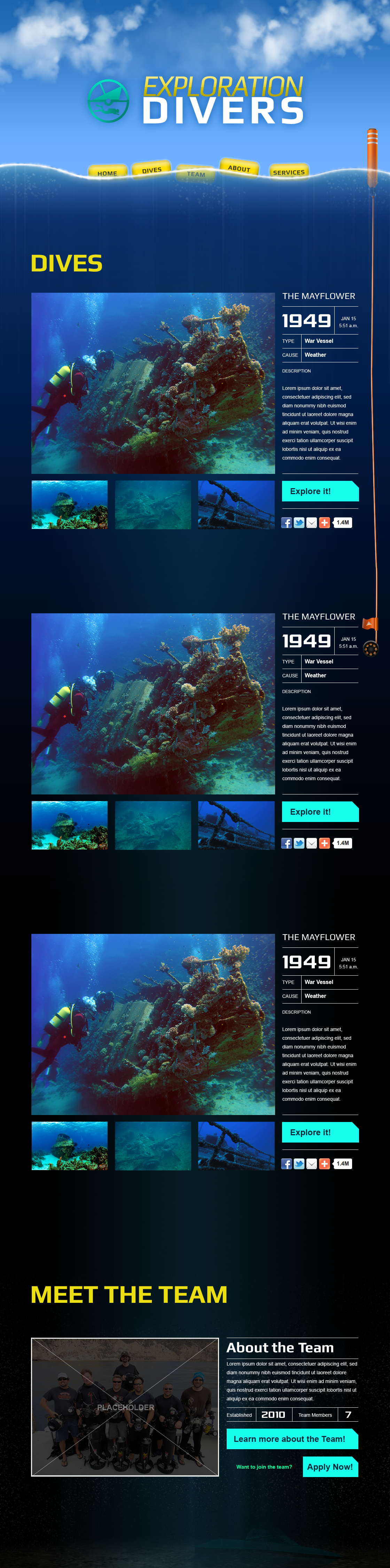 Exploration Divers Mockup 1